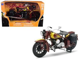 1934 Indian Sport Scout Bike Motorcycle 1/12 by New Ray, New Ray Item Number NR42113S