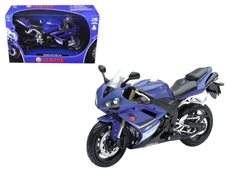 2008 Yamaha YZF-R1 Blue Motorcycle Model (1:12), Motorcity Classics Item Number NR43103