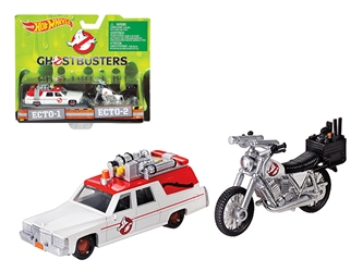 Ghostbusters 3 Movie Cadillac (1:64) & Bike 1:50 Scale, Hot wheels Item Number DRW73