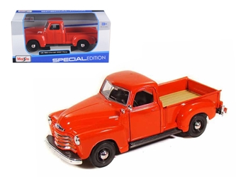 1950 Chevrolet 3100 Pick Up Truck Omaha Orange (1:25) by Maisto, Maisto Item Number MST31952R