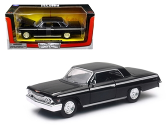 1962 Chevrolet Impala SS Black 1/24 Diecast Model Car by New Ray