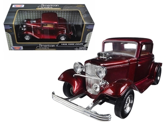 1932 Ford Coupe Burgundy (1:24), Motormax Item Number MMX73251BUR