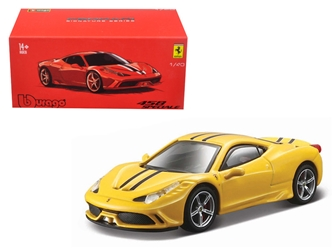 Ferrari 458 Speciale Yellow Signature Series 1/43 Diecast Model Car by Bburago, BBurago Item Number BBR36901Y