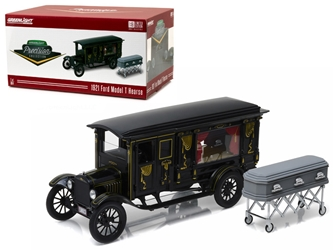 1921 Ford Model T Ornate Carved Hearse with Coffin Black Precision Collection Limited Edition (1:18), Greenlight Item Number GLC18013