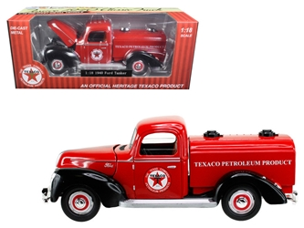 "1940 Ford Tanker ""Texaco"" Red 1:18 Diecast Model Car by Beyond Infinity by Beyond The Infinity"