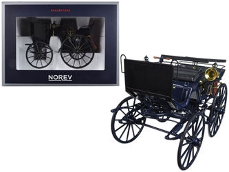 1886 Daimler Motorkutsche 1/18 Diecast Car Model by Norev, Norev Item Number 183700