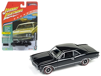 "1967 Chevrolet Chevelle Gloss Black ""Muscle Cars USA"" 1/64 Diecast Model Car by Johnny Lightning, Johnny Lightning Item Number JLMC006A"