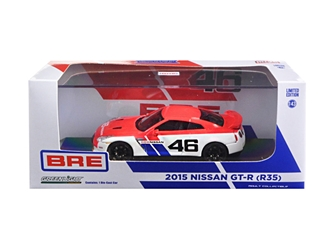 2015 Nissan GT-R (R35) BRE #46 Limited Edition 2300pcs 1/43 Diecast Model Car by Greenlight