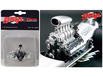"Blown Drag Engine and Transmission Replica from ""The Chizler V"" Vintage Dragster 1/18 Model by GMP, GMP Item Number 18853"