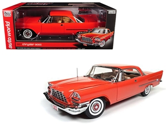 1957 Chrysler 300C Hemi Gauguin Red 60th Anniversary Limited Edition to 1002pc 1/18 Diecast Model Car by Autoworld, Autoworld Item Number AMM1110