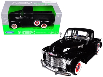 1953 Chevrolet 3100 Pick Up Truck Black 1/24 - 1/27 Diecast Model Car by Welly, Welly, Item Number 22087BK