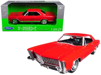 1965 Buick Riviera Gran Sport Red 1/24 - 1/27 Diecast Model Car by Welly, Welly Item Number 24072R