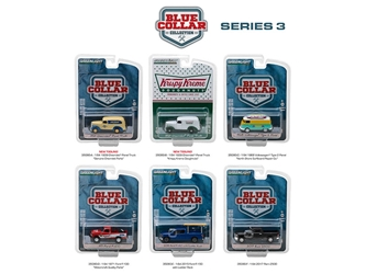 Blue Collar Collection Series 3, 6pc Set 1/64 Diecast Model Cars by Greenlight, Greenlight Item Number GLC35080
