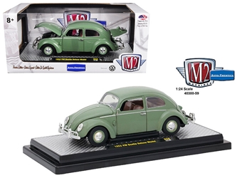 1952 Volkswagen Beetle Deluxe Pastel Green 1/24 Diecast Model Car by M2 Machines, M2 Item Number 40300-59A