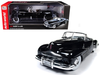 1938 Buick Y-Job Black Limited Edition to 1002pc 1/18 Diecast Model Car by Autoworld, Autoworld Item Number AMM1120