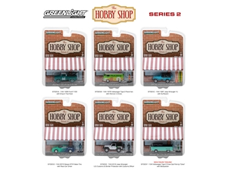The Hobby Shop Series 2, 6pc Set 1/64 Diecast Model Cars by Greenlight, Greenlight Item Number GLC97020