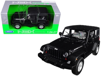 2007 Jeep Wrangler Dark Gray Metallic 1/24 - 1/27 Diecast Model Car by Welly, Welly Item Number 22489DKGRY