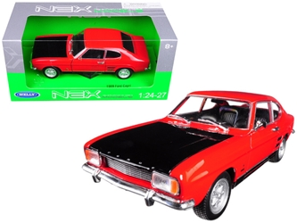 1969 Ford Capri Red 1/24 - 1/27 Diecast Model Car by Welly, Welly Item Number 24069R