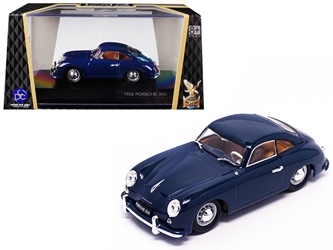 1952 Porsche 356 Coupe Dark Blue 1/43 by Road Signature Item Number: ROS43218BL
