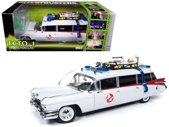 "1959 Cadillac Ambulance Ecto-1 From ""Ghostbusters 1"" Movie 1/18 Diecast Model Car by Autoworld, Autoworld Item Number AWSS118"