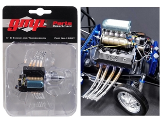 Engine and Transmission Replica 427 Blown SONC Gasser Ohio Georges 1967 Ford Mustang 1/18 by GMP, GMP Item Number 18887