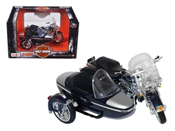 2001 Harley Davidson FLHRC Road King Classic with Side Car Black Motorcycle Model 1/18