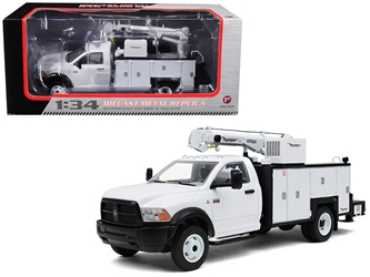 Dodge Ram 5500 with Maintainer Service Body White 1/34 Diecast Model by First Gear, First Gear Item Number 789200