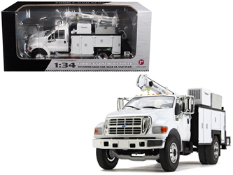 Ford F-650 with Maintainer Service Body White 1/34 Diecast Model Car by First Gear