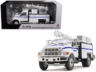 "Ford F-650 ""Komatsu"" with Maintainer Service Body 1/34 Diecast Model Car by First Gear"