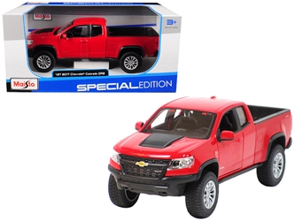 2017 Chevrolet Colorado ZR2 Pickup Truck Red 1/27 Diecast Model Car by Maisto, Maisto Item Number MST31517R