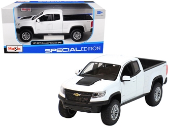 2017 Chevrolet Colorado ZR2 Pickup Truck White 1/27 Diecast Model Car by Maisto, Maisto Item Number MST31517W