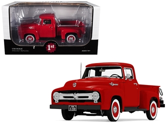 1956 Ford F-100 Pickup Truck High Feature Vermillion Red 1/25 Diecast Model Car by First Gear, First Gear Item Number 40-0414