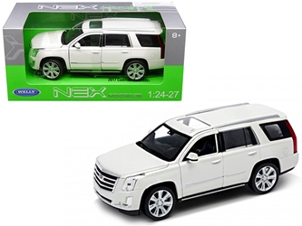 2017 Cadillac Escalade with Sunroof White 1/24 - 1/27 Diecast Model Car by Welly, Welly Item Number 24084W