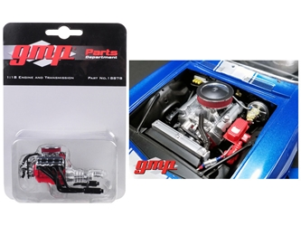 Engine and Transmission Replica Big Block Chevrolet Drag Engine from 1969 Chevrolet Camaro 1/18 by GMP, GMP Item Number 18878