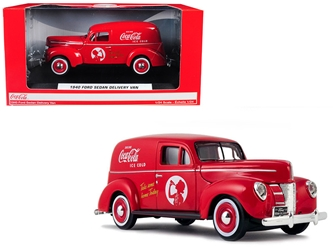 "1940 Ford Sedan Delivery Van ""Coca-Cola"" Red 1/24 Diecast Model Car by Motorcity Classics, Motorcity Classics Item Number 424194"