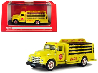 "1955 Diamond T Bottle Delivery Truck ""Coca-Cola"" Yellow 1:50 Diecast Model Car by Motorcity Classics, Motorcity Classics, Item Number 450055"