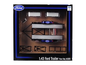 "Tandem Car Trailer with Tire Rack ""Ford"" for 1:43 Scale Model Cars by GMP, GMP, Item Number 14305"