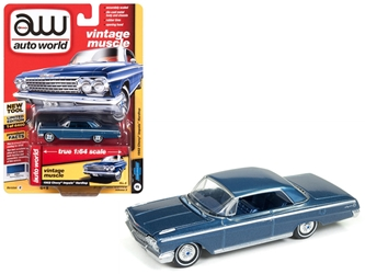 1962 Chevrolet Impala Nassau Blue Limited Edition to 4,400 pieces Worldwide 1:64 Diecast Model Car by Autoworld, Autoworld, Item Number 64182-AWSP008B