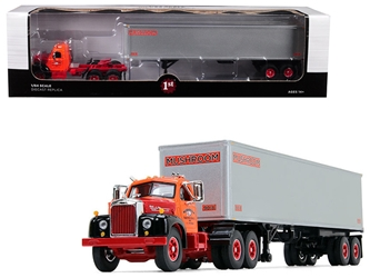 "Mack B-61 Day Cab Orange with 40 Vintage Trailer ""Mushroom Transportation"" 19th in a ""Fallen Flag Series"" 1:64 Diecast Model by First Gear, First Gear, Item Number 60-0422"