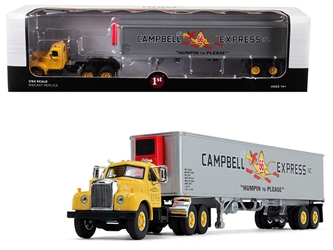 "Mack B-61 Day Cab Yellow with 40 Vintage Reefer Trailer ""Campbell 66 Express Inc."" 21th in a ""Fallen Flag Series"" 1/64 Diecast Model by First Gear, First Gear, Item Number 60-0423"