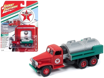 "GMC CCKW 2 1/2-ton 6x6 Tanker Truck ""Texaco"" Limited Edition to 1,416 pieces Worldwide 1/87 Diecast Model by Johnny Lightning, Johnny Lightning, Item Number JLSP057"