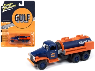 "GMC CCKW 2 1/2-ton 6x6 Tanker Truck ""Gulf Oil"" Limited Edition to 1,416 pieces Worldwide 1/87 Diecast Model by Johnny Lightning, Johnny Lightning, Item Number JLSP058"