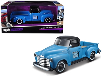 "1950 Chevrolet 3100 Pickup Truck Blue with Black Top ""Madero Sano Surf Club"" ""Outlaws"" 1/25 Diecast Model Car by Maisto, Maisto, Item Number MST32506BL"