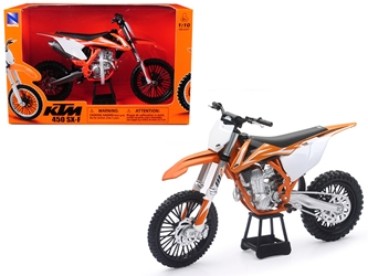KTM 450 SX-F Dirt Bike Orange and White Motorcycle Model 1/10 by New Ray, New Ray, Item Number 57943