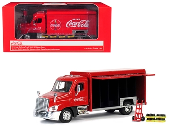 "Beverage Delivery Truck ""Coca-Cola"" with Handcart and 4 Bottle Cases 1/50 Diecast Model by Motorcity Classics, Motorcity Classics, Item Number 450060"