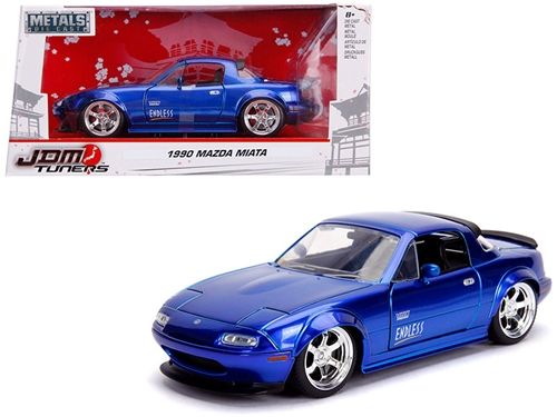 "1990 Mazda Miata ""Endless"" Candy Blue ""JDM Tuners"" 1/24 Diecast Model Car by Jada by Jada Item Number: 30942"