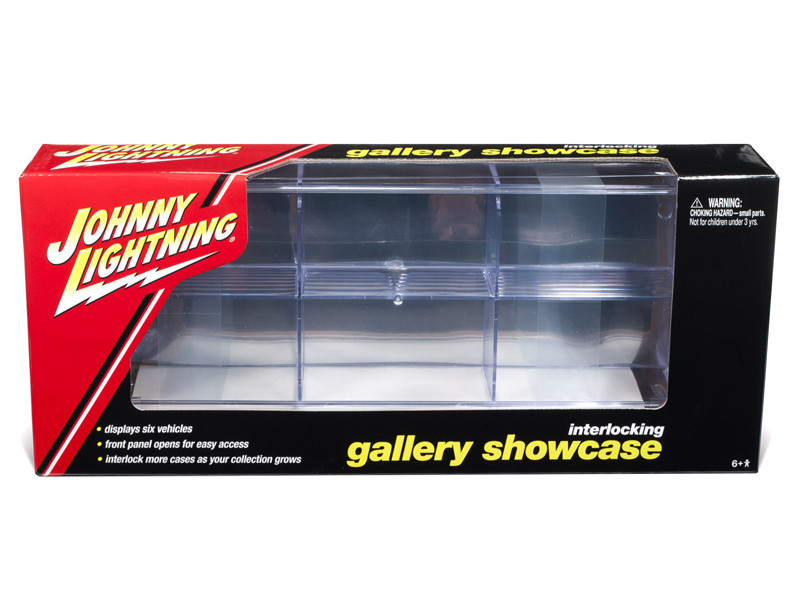6 Car Interlocking Acrylic Display Show Case for 1/64 Scale Model Cars by Johnny Lightning by Johnny Lightning Item Number: JLDC001