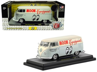 "1960 Volkswagen Delivery Van ""Moon Equipped"" Light Blue with White Top Limited Edition to 5,880 pieces Worldwide 1/24 Diecast Model by M2 Machines by M2 Item Number 40300-MOON02A"