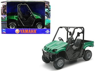 2008 Yamaha Rhino 700 F1 4x4 Off Road ATV Green 1/12 Diecast Model by New Ray
