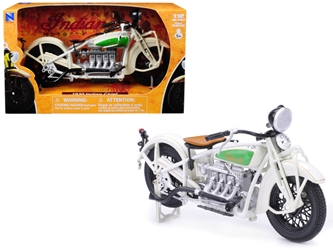 1930 Indian Chief White Bike 1/12